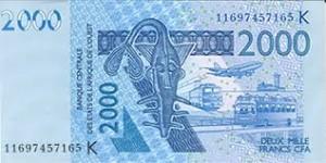 le billet bleu de 2000FCFCA ou les blues de Chelsea.