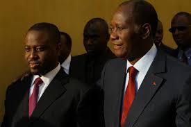 Guillaume soro et Alassane Ouattara. creditphoto.le matin.net.